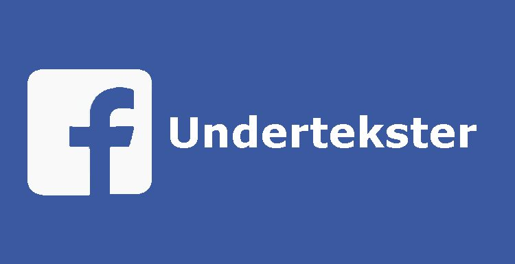 Facebook-undertekster